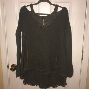 Free People moonshine sweater off shoulder small